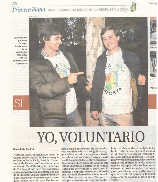 Yo, voluntario