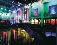 Berghain club interior, Berlin, where DJ Mat Jonson performs minimalist techno